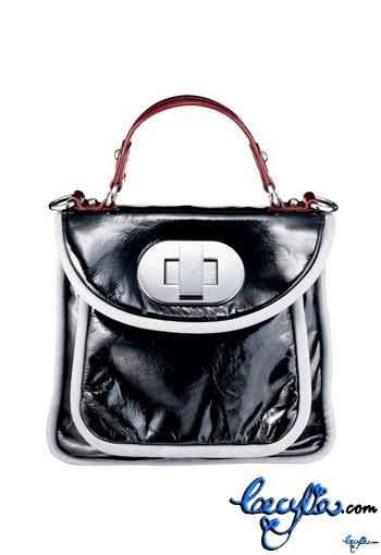 badgley mischka patent leather bag