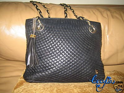 black quilted bally bag
