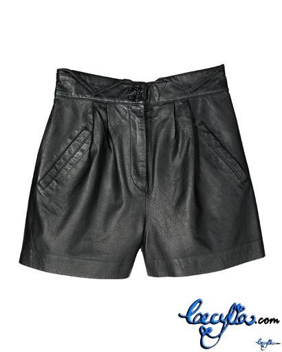 charlotte ronson leather shorts elle
