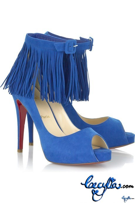 christian louboutin short ina 120 suede ankle sandals