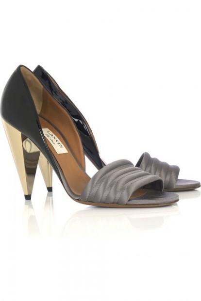 lanvin cone heel pumps