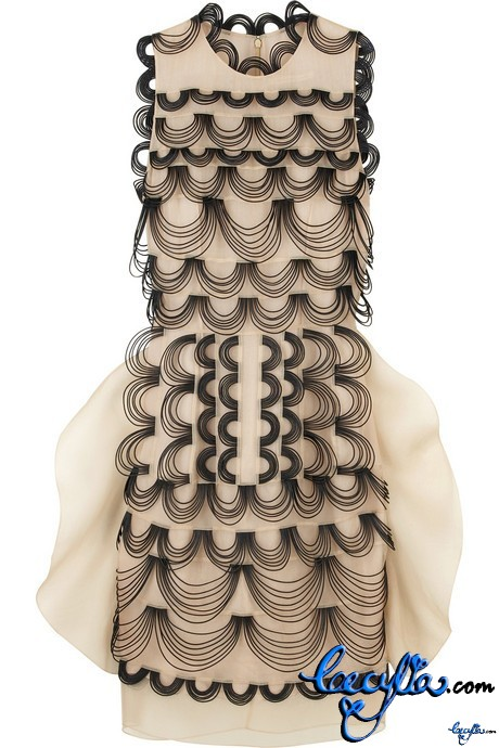 christopther kane leather wire dress
