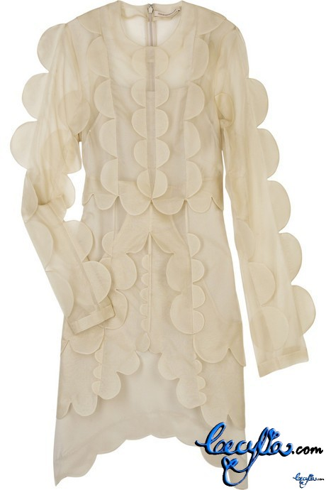 christopther kane steg silk dress