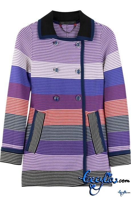 marc by marc jacobs maggie stripe knit jkt