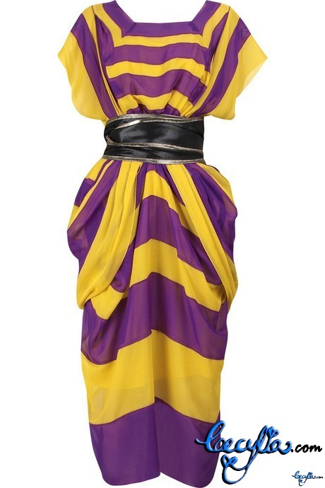 marc jacobs voile draped dress