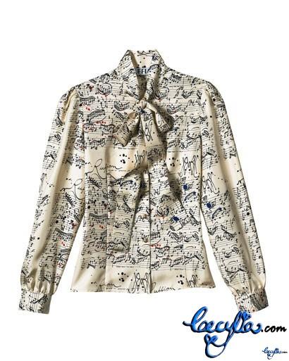 ruffian silk twill blouse elle