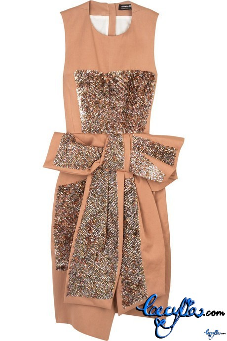 sonia rykiel sequin embellished bow dress