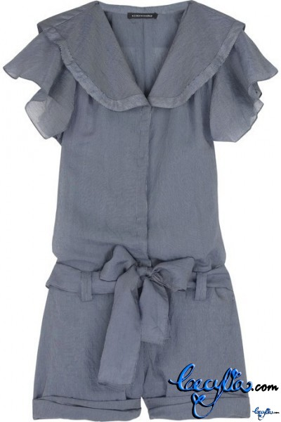 alldressedup twill self-toe playsuit
