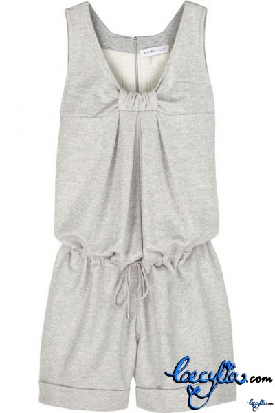 see by chloe pleated tank jumpsuit