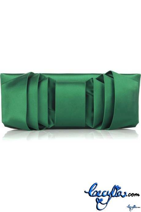 valentino satin bow front clutch