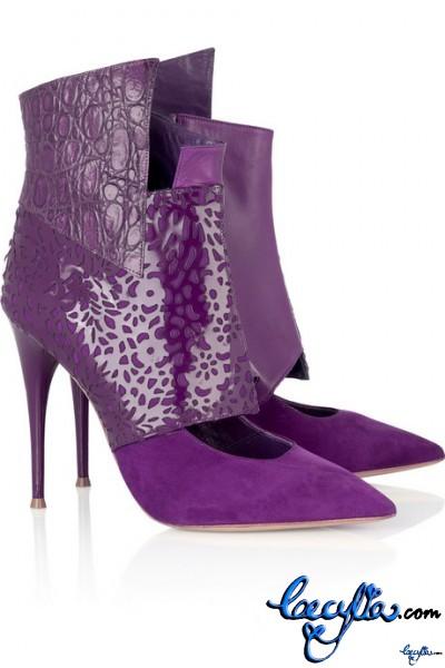 chloe paneled shoe boots