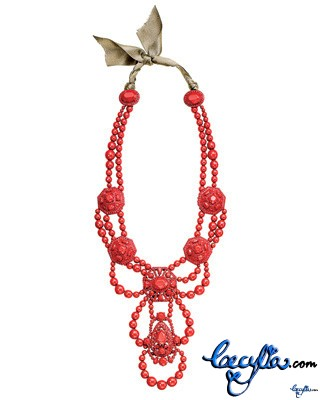 lanvin multistrand lacquered necklace