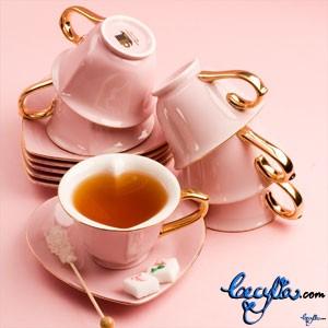 1 a pinjk tea cups