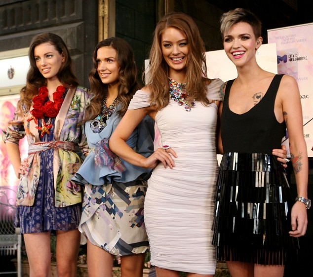 Lucy McIntosh, Ruby Rose with Sarah and Shoona