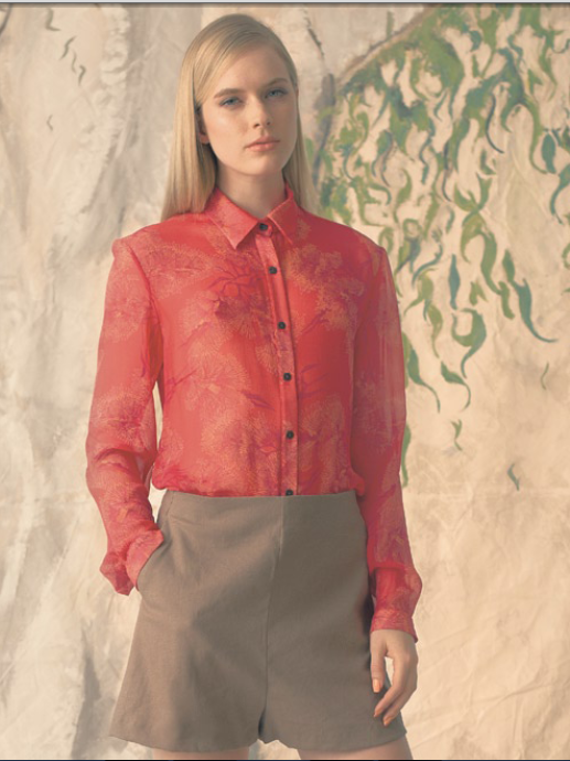 kyla crozier red blouse
