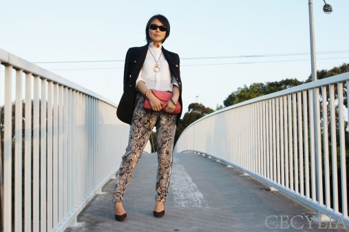BCBG Snake pants3