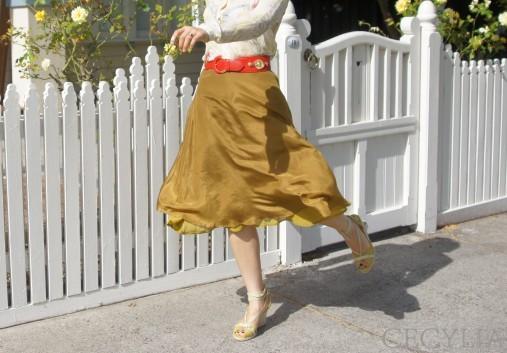 Cecylia  Crozier shirt Violet & I skirt4